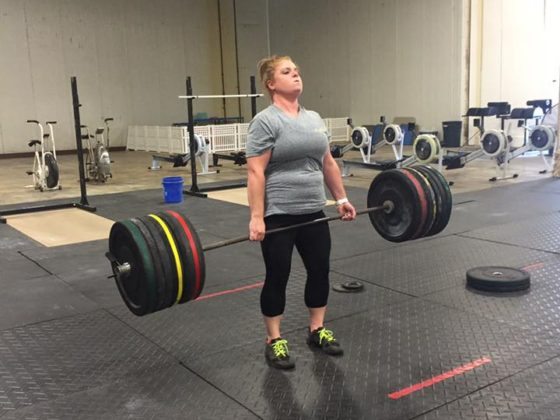 Megan hitting one of the many Deadlift PR's from Friday's strength session.
